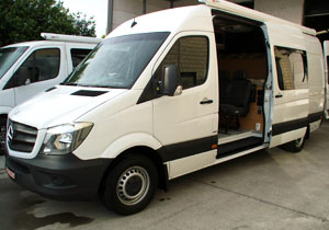 Van ready to be converted to a motorhome