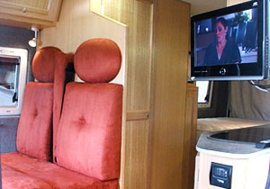 Interior of motorhome conversion