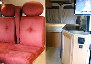 custom conversion in a motorhome